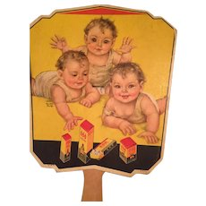 Darling Triplets Vintage Church Fan