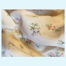 Rare Vintage Rayon Taffeta Doll Fabric