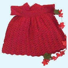 Sweet Hand Crochet Vintage Doll Dress