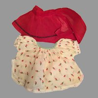 Vintage Doll Apron and Diaper Shirt