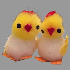 Two Tiny Pom Pom Easter Chicks
