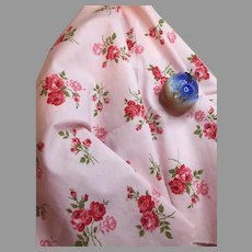 Romantic Old Rose Print Fabric