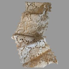 Beautiful Antique Ecru Lace