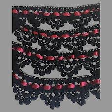 Antique Victorian Crochet Wool Lace