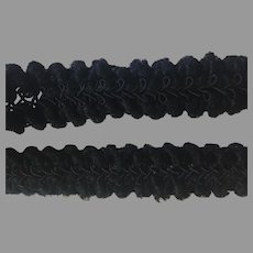 Puffy Black Chenille Trim