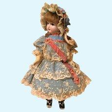 Wonderful Doll Dress & Bonnet-Turquoise Silk
