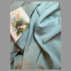 Smooth Vintage Silk Fabric-Aqua