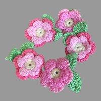 Pretty Handmade Pink Crochet Flowers