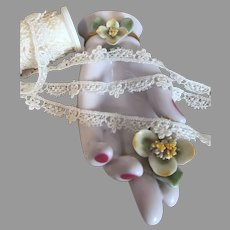 Delicate Vintage Rayon Schiffli Lace