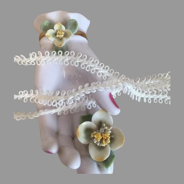 Ivory Double Loop Silk Braid