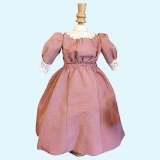 Elegant Rose Faille Lady Doll Dress