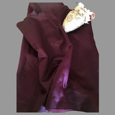 Gorgeous Antique Silk Satin-Eggplant