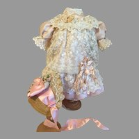 "Exquisite Silk & Lace Doll Dress-27"" Doll"
