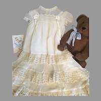 Ultra Pretty Vintage Baby Gown Set