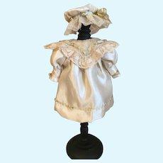 Marvelous Silk Doll Dress & Hat