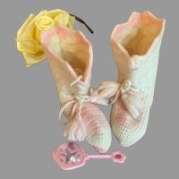 Lovely Vintage Doll Booties-Hand Crochet