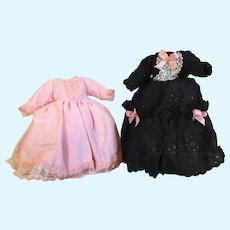 Two Elegant Little Doll Dresses