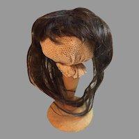 Rare Long Antique Human Hair Doll Wig