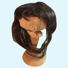 Rare Long Antique Human Hair Doll Wig