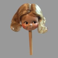 Cute Blonde Synthetic Doll Wig