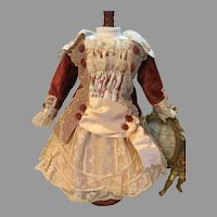 Marvelous Autumn Doll Dress-French Dolls