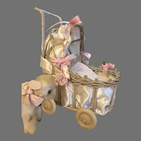 Irresistible Vintage Musical Doll Carriage