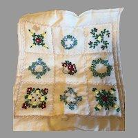 Wonderful Hand Made Doll Quilt