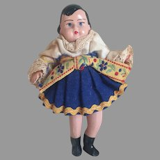 All Bisque Hungarian Folk Doll