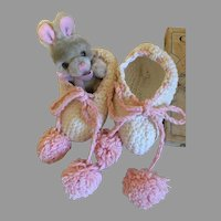 Cozy Vintage Cotton Toddler Slippers