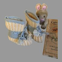 Sweet Vintage Baby Booties for Dolls