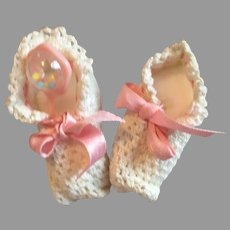 True Doll Size Vintage Baby Doll Booties