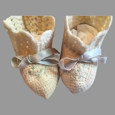 Lovely Antique Doll Booties