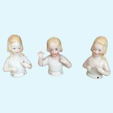 Friendly Child Half Doll Waves Hello