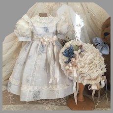 Romantic Blue Rose Gauze Doll Costume