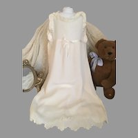 Beautiful Antique Long Silk Baby Doll Slip