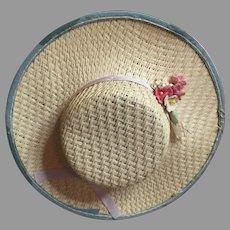 Vintage Straw Doll Hat