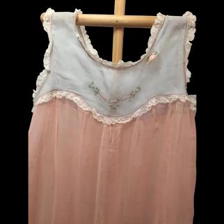 Amazing Antique Cotton Voile Dress