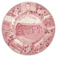 New Berry Lincoln Store and Post Office Plate by Adams, Old English Staffordshire Ware