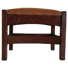 J M Young Arts and Crafts Footstool