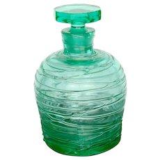 Steuben Threaded Art Glass Perfume Bottle - Red Tag Sale Item
