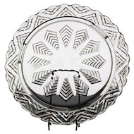 Federal Glass Star Feather Cake Plate