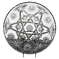 "Anchor Hocking ""Star of David"" Cake Plate"