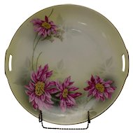 RS Prussia Cake Plate with Poinsettia Transfer
