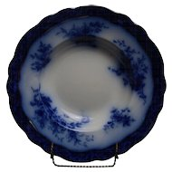 """Touraine"" Flow Blue Bowl Made by Henry Alcock and Company."