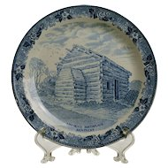 Lincoln's Birthplace Plate by Old English Staffordshire Ware