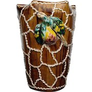 Large Majolica Vase with Pear Decoration