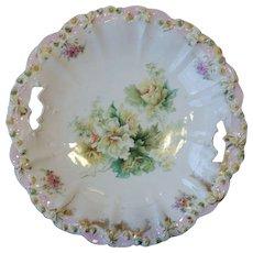 RS Prussia Rosebud Mold Cake Plate