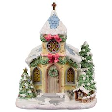 "Precious Moments ""Hawthorne Village - Holy Night Chapel"""