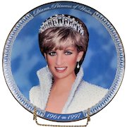 """Franklin Mint Collectors Plate """"Diana, Princess of Wales 1961 - 1997"""""""