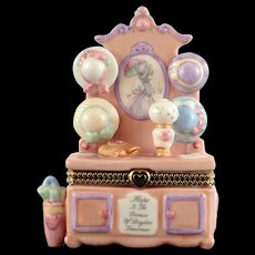 "Precious Moments ""Victorian Hall Tree Hinged Covered Box"""